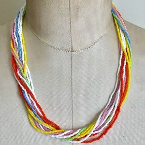 Vintage Colorful Glass beaded necklace